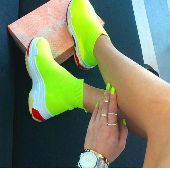 Lime Green Sock Shoes   Poshmark